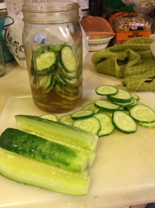 With big cucumbers, you can do slices or spears to get more into the jar.