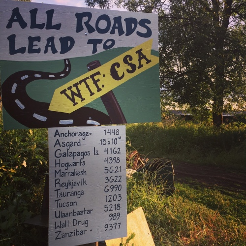 We love our new CSA Welcome Sign.
