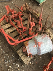 Fertilizer Side-Dresser for Farmall Cub. Parts to feed two rows. Needs some work but has all parts. $500.